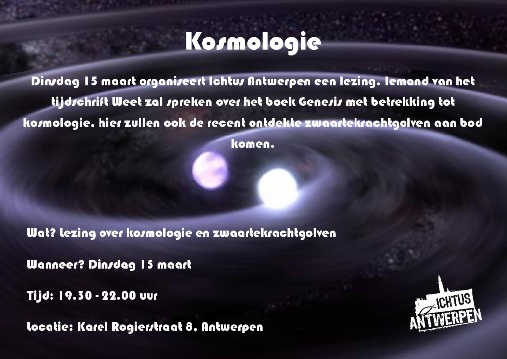 Flyer lezing Kosmologie